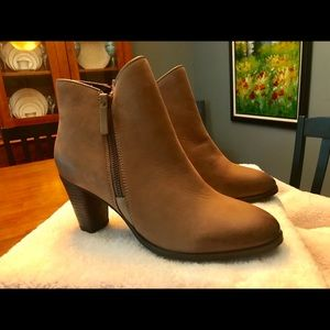 Mia leather booties, size 8.5, Brown